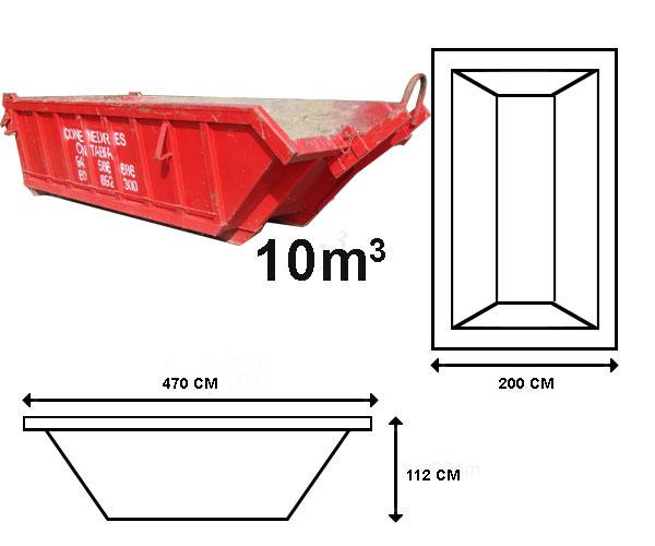 Alquiler de contenedores de 10 M3 en Santander