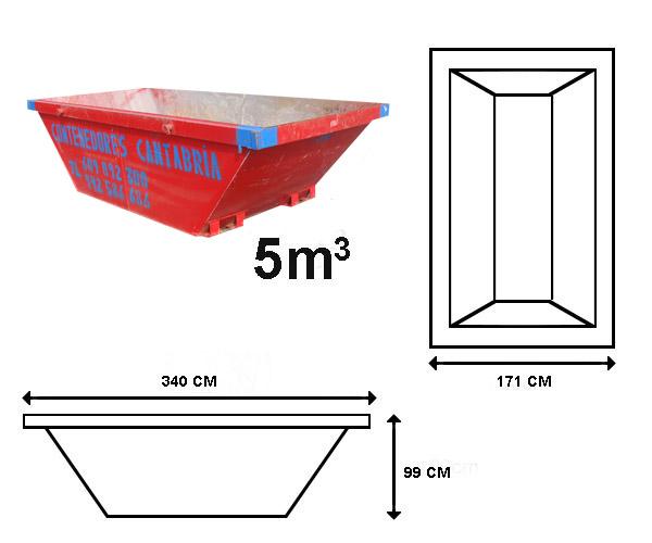 Alquiler de contenedores de 5 M3 en Santander